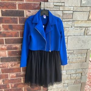 Total Girl Blue/Black Tank Dress & Jacket Set 16